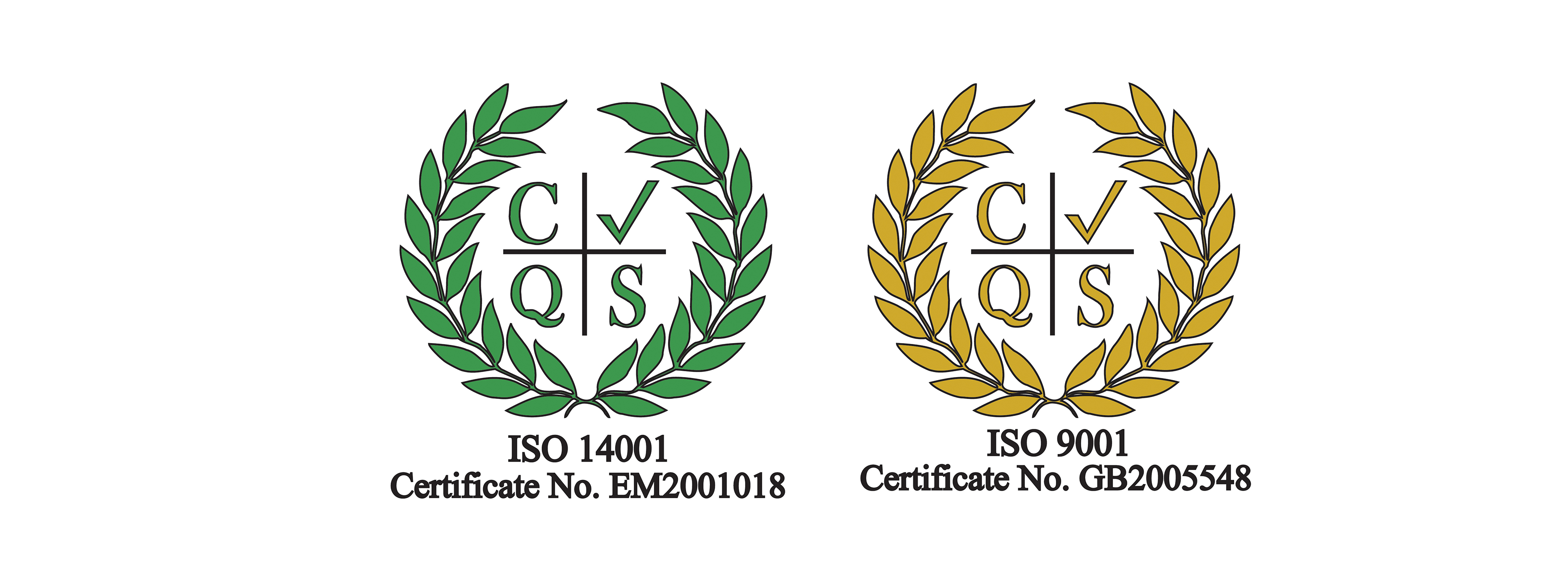 ISO 9001 and ISO 14001 Certifications